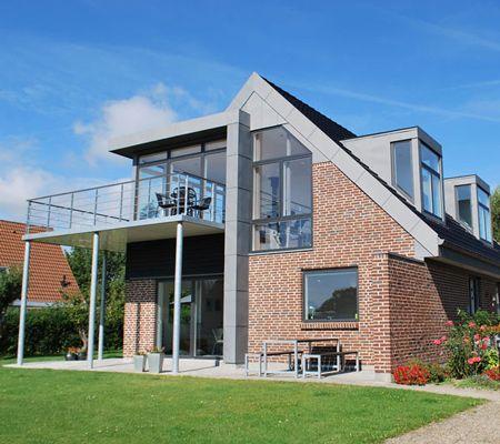 Arkitektfirmaet Arne Birk samarbejde privat hus af røde mursten