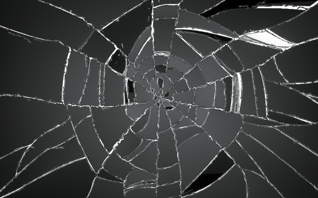 Knust glas. Skade ulykkesforsikring